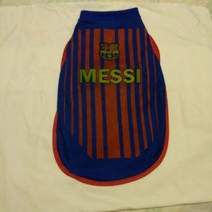Barcelona Soccer Jersey For Dogs Size Medium
